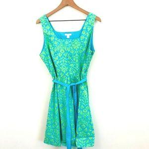 Garnet Hill Cotton Printed A-Line Dress 16